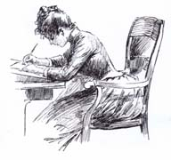 Lady, Writing